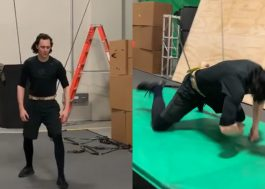 Tom Hiddleston mostra treinamento e seu tombo nos bastidores da série do Loki