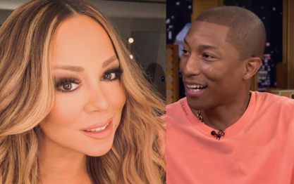 Mariah e Pharrell no Hall da Fama dos Compositores