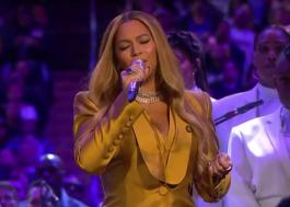 """Beyoncé canta """"XO"""" e """"Halo"""" durante cerimônia em homenagem a Kobe e Gianna Bryant"""