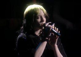 """BRIT Awards 2020: Billie Eilish faz primeiro live de """"No Time To Die"""" acompanhada por orquestra"""