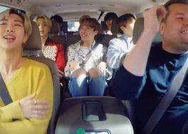 BTS canta hits e participa de aula de dança no Carpool Karaoke, do James Corden