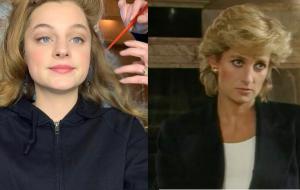 "Novas fotos do set de ""The Crown"" mostram Emma Corrin caracterizada como Princesa Diana"