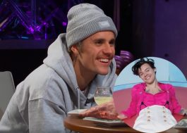 Na TV, Justin Bieber questiona se Harry Styles é mais talentoso do que ele