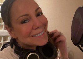 Mariah Carey compartilha foto no estúdio e revela que está gravando música nova
