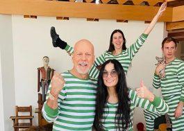 Separados há 20 anos, Bruce Willis e Demi Moore se unem em quarentena com a filha
