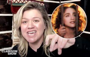 """Em casa, Kelly Clarkson faz cover de """"Like A Prayer"""", clássico da Madonna"""