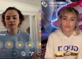 Selena Gomez revela que sofre de bipolaridade em live com Miley Cyrus