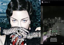 Madonna publica stories de panelaço contra Bolsonaro