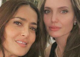 """Salma Hayek diz que Angelina Jolie """"nasceu para ser uma super-heroína"""""""