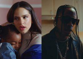 """Rosalía e Travis Scott estão rodeados de crianças no clipe de """"TKN"""""""