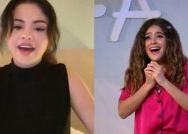 Selena Gomez deseja feliz aniversário a Maísa durante live