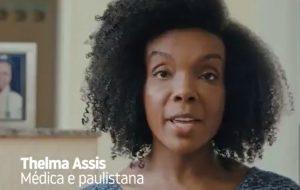 Thelma Assis faz apelo para que pessoas fiquem em casa em propaganda da Prefeitura de SP