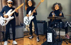 Nandi Bushell, de 10 anos de idade, viraliza fazendo versão do Rage Against The Machine