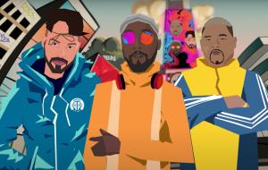 """Papatinho, Will.i.am e Kevin o Chris unem forças no clipe em animação de """"5 Estrelas"""""""