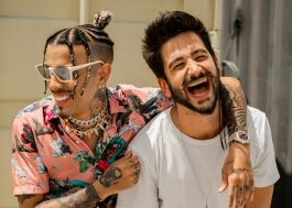 "Rauw Alejandro e Camilo aproveitam dia ensolarado no clipe do remix de ""Tattoo"""