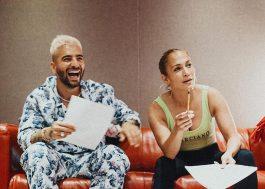 Maluma publica foto em estúdio e conta que está gravando com Jennifer Lopez