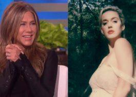 Jennifer Aniston teria sido convidada para ser madrinha da filha de Katy Perry