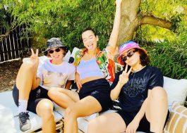 Cristais pop: Dua Lipa, Tove Lo e Charli XCX passam tarde juntas