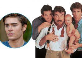 """Zac Efron vai estrelar remake de """"Três Solteirões e um Bebê"""" no Disney+, diz site"""