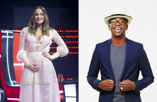 """Cláudia Leitte no """"The Voice Kids"""" e Mumuzinho (Divulgação)"""