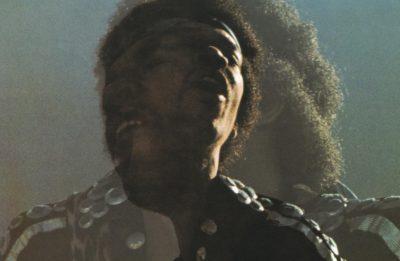 """Jimi Hendrix na capa do disco """"Rainbow Bridge"""""""