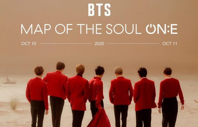 "Cartaz dos shows ""Map of the Soul ON:E"" do BTS (Divulgação)"