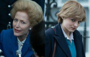 """""""The Crown"""": fotos inéditas da 4ª temporada mostram Margaret Thatcher e princesa Diana"""