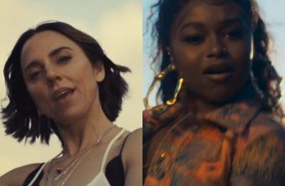 """Melanie C e Nadia Rose no clipe de """"Fearless"""" (Reprodução)"""