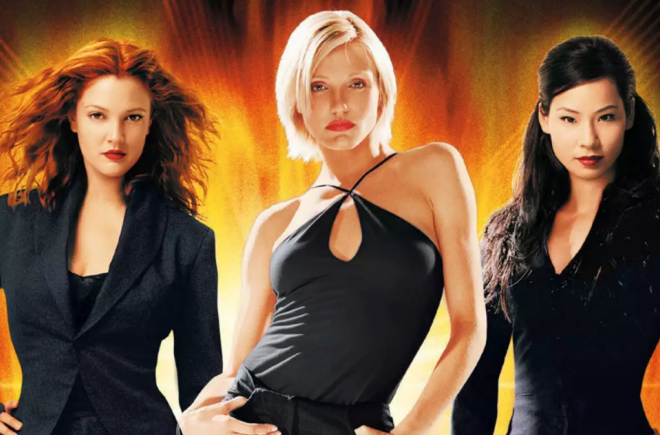 """Drew Barrymore, Cameron Diaz e Lucy Liu em cartaz de """"As Panteras"""" (Divulgação)"""