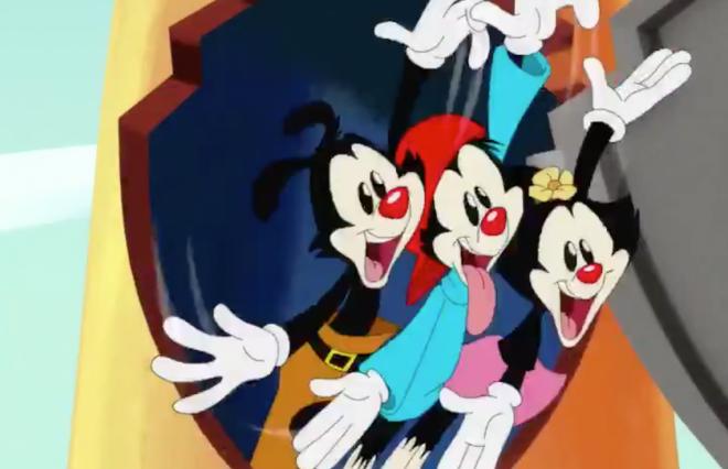 """Personagens do desenho """"Os Animaniacs"""" em prévia (Reprodução)"""