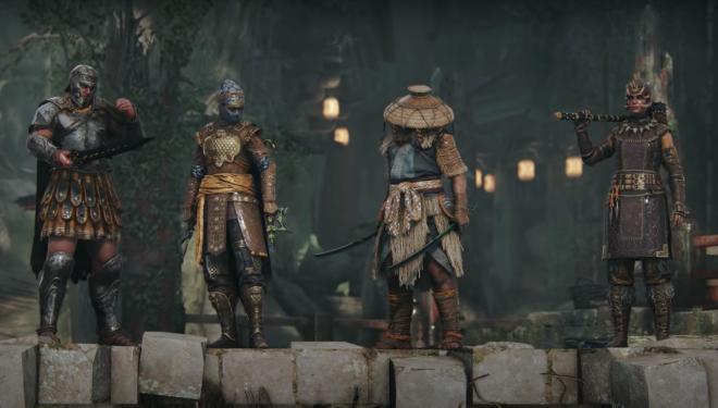 """Cena do trailer do jogo """"For Honor"""" (Reprodução)"""