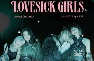"""Capa do single """"Lovesick Girls"""" (Divulgação)"""