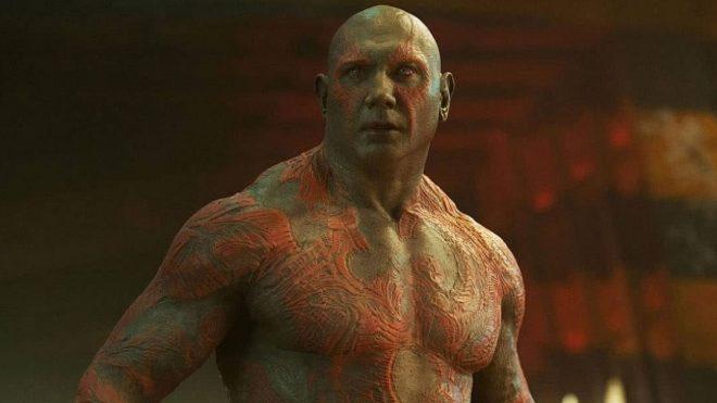 """Dave Bautista como Drax em """"Guardiões da Galáxia"""" (Reprodução)"""