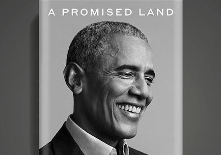 """Barack Obama em capa do livro """"Uma Terra Prometida"""" (Divulgação)"""