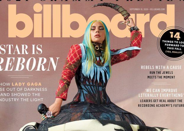 Lady Gaga na capa da nova edição da Billboard (Divulgação)