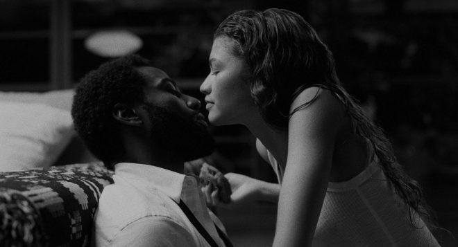 "Zendaya e John David Washington no longa ""Malcolm & Marie"" (Foto: Reprodução)"