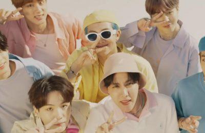 """BTS em cena do clipe de """"Dynamite"""" (Reprodução)"""