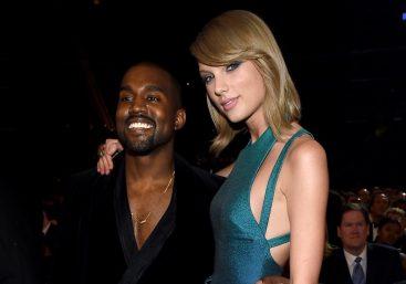 Kanye West e Taylor Swift em cerimônia do Grammy (Getty Imagens)