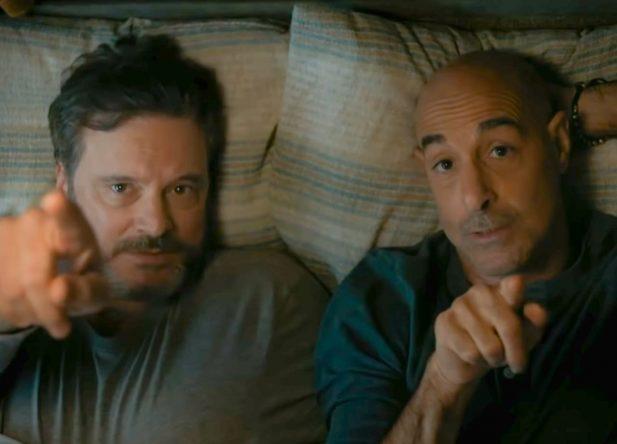 """Colin Firth e Stanley Tucci no filme """"Supernova"""" (Reprodução)"""