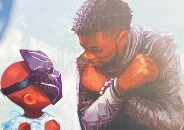Mural em homenagem a Chadwick Boseman postado no Instagram (Reprodução)
