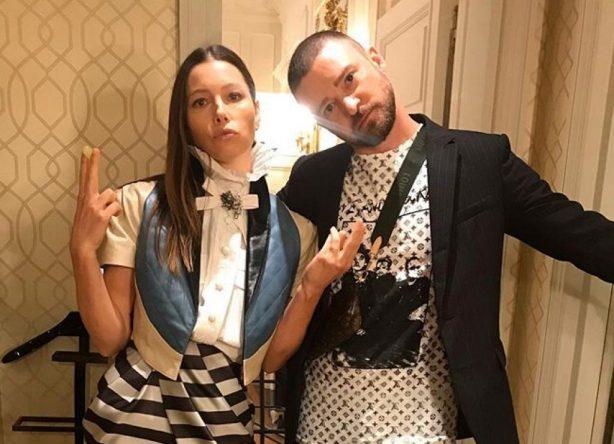 Jessica Biel e Justin Timberlake em foto no Instagram (Reprodução)