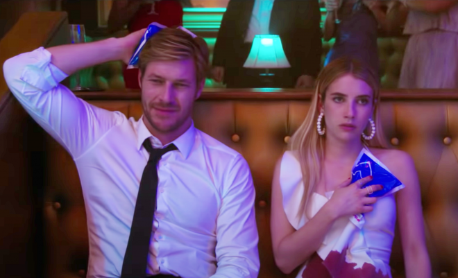 """Cena do trailer de """"Amor com Data Marcada"""" (Reprodução)"""
