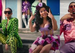"""Anitta, Cardi B e Myke Towers trazem explosão de cores no clipe de """"Me Gusta"""""""