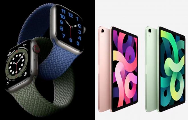 Nova linha Apple Watch (Reprodução)/Nova linha iPad (Reprodução)