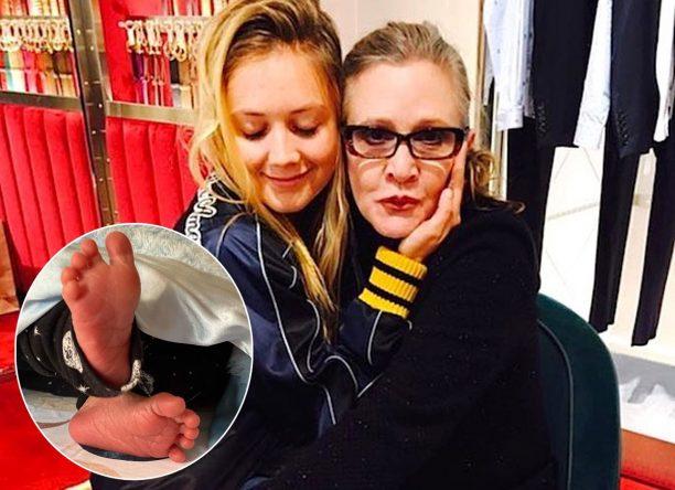 Billie Lourd e Carrie Fisher (Reprodução/Instagram)