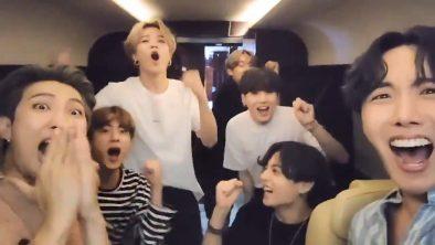 BTS comemora topo da Billboard em vídeo (Reprodução)
