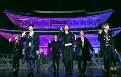 BTS durante apresentação no Jimmy Fallon (Reprodução)