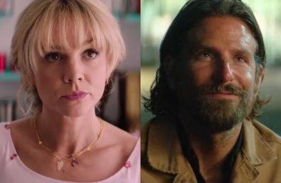 """Carey Mulligan no filme """"Promising Young Women"""" e Bradley Cooper em """"Nasce Uma Estrela"""" (Reprodução)"""