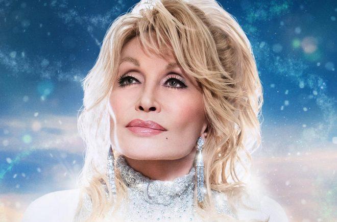 """Parte do cartaz de """"Dolly Parton's Christmas on the Square"""" (Divulgação)"""