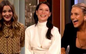 """Reunião de """"As Panteras""""! Drew Barrymore junta Lucy Liu e Cameron Diaz em teaser do talk show"""